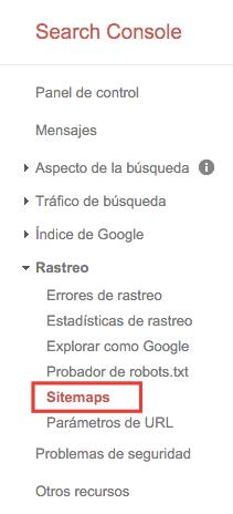 Crear un sitemap en WordPress 06_Search-Console