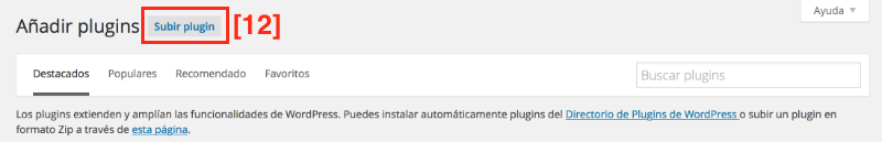 Instalando plugins wordpress