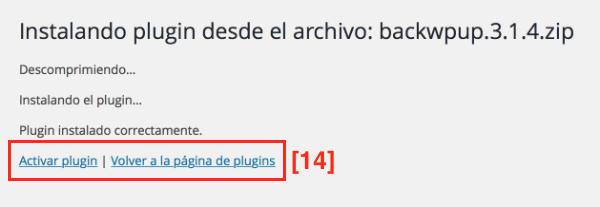 Plugin wordpress instalado